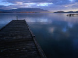 Jetty of Flathead Lake at Dusk  Montana  USA