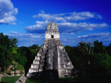 Temple of the Grand Jaguar on the Great Plaza  Tikal  El Peten  Guatemala
