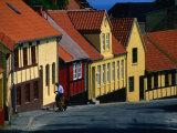 Postman Delivering Mail in Allinge  Allinge Bornholm  Denmark