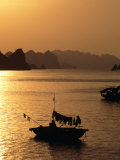 Dusk Over Halong Bay  Halong City  Vietnam