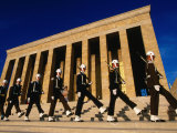 Changing of the Guard at Ataturk Monument  Anit Kabir Mausoleum  Ankara  Turkey