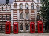 Red Telephone Boxes Outside Building Near the Inns of Court  London  United Kingdom