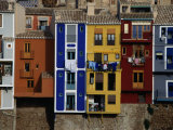 Brightly Painted Houses at La Vila Joiosa  Near Benidorm  Benidorm  Valencia  Spain