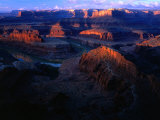 Sunrise Over Canyon  from Dead Horse Gap Canyonlands National Park  Utah  USA