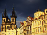 Tyn Church Amidst Houses in Old Town  Prague  Czech Republic