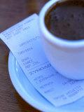 Greek Coffee and Bill  Chios Island  North-Eastern Aegean Islands  Greece