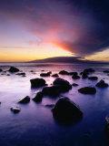 Sunset Over the Island of Lanai Viewed from West Maui  Lanai  Hawaii  USA