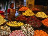 Flower Seller at the New Market  Kolkata  West Bengal  India