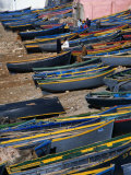 Fishing Boats on Shore  Taghazout  Tiznit  Morocco