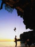 Climbers on Ton Sai Cliff  Krabi  Thailand