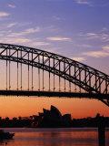Sunrise Over Sydney Harbour Bridge and Sydney Opera House  Sydney  Australia