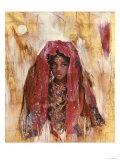 Untitled African Red Wrap Giclée premium par Marta Gottfried