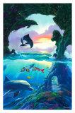 Seven Dolphins Reproduction d'art par Jim Warren