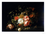 Basket of Flowers  Uffizi Gallery  Florence