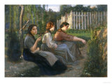 Young Peasant Women Talking  Galleria d'Arte Moderna  Palazzo Pitti  Florence