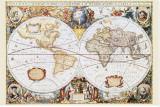 Carte du monde Tableau sur toile