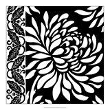 Graphic Chrysanthemums II