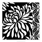 Graphic Chrysanthemums I