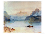 Lake Lucerne: The Bay of Uri  from Brunnen  Circa 1841-2