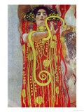 Medicine, Part of the Ceiling Fresco for the Vienna University, 1900/07 Reproduction d'art par Gustav Klimt