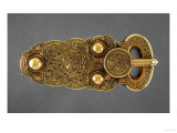 Gold Belt Buckle Fom the Ship-Burial at Sutton Hoo  Suffolk  Early 7th Century