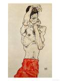 Standing Male Nude with Red Loincloth, 1914 Giclée par Egon Schiele