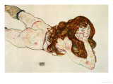 Female Nude on Her Stomach  1917
