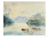The Bay of Uri on Lake Lucerne  from Brunnen  Circa 1841-2