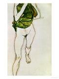 Striding Torso in Green Shirt  1913