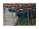 Boats Mirrored in the Water, 1908 Giclée par Egon Schiele