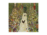 Gardenpath with Hens, 1916 Giclée par Gustav Klimt