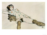 Reclining Female Nude with Legs Spread  1914