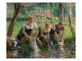 Les Lavandières, 1895 Giclée par Camille Pissarro