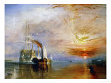 The Temeraire Towed to Her Last Berth (AKA The Fighting Temraire) Giclée par J. M. W. Turner