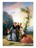 The Flower Girls (Spring)  Cartoon for a Tapestry  1786-1788