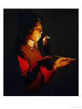 Boy Blowing on a Firebrand  circa 1645-1650
