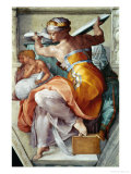 The Sistine Chapel; Ceiling Frescos after Restoration, the Libyan Sibyl Giclée par Michelangelo Buonarroti