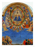 The Last Judgement  Christ in His Glory  Surrounded by Angels and Saints  Fresco (Around 1436)