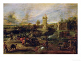 Tournament Near the Moat of the Castle of Steen