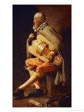 The Hurdy-Gurdy Player  circa 1638-1630