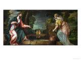 Christ and the Samaritan Woman at the Well  circa 1580