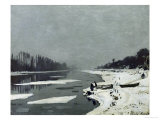 Ice Floes on the Seine at Bougival  Around 1867