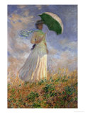 Woman with an Umbrella Turned to the Right Giclée par Claude Monet