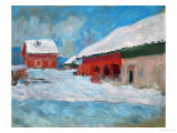 Red Houses at Bjoernegaard  Norway  1895