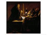 The Ecstasy of Saint Francis  Contemporary Copy after a Lost Original by De La Tour