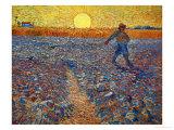 Le semeur au soleil couchant Giclée par Vincent Van Gogh