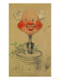 Bordeaux Wine  Caricature  1857  Drawing