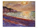 Beach at Pourville, Sunset, 1882 Giclée par Claude Monet