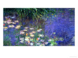 Waterlilies (Les Nympheas), Study of the Morning Water Reproduction d'art par Claude Monet