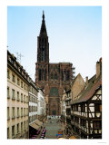 Notre Dame Cathedral  Strasbourg  Begun in Romanesque Style in 1015  Gothic Building  1176-1439